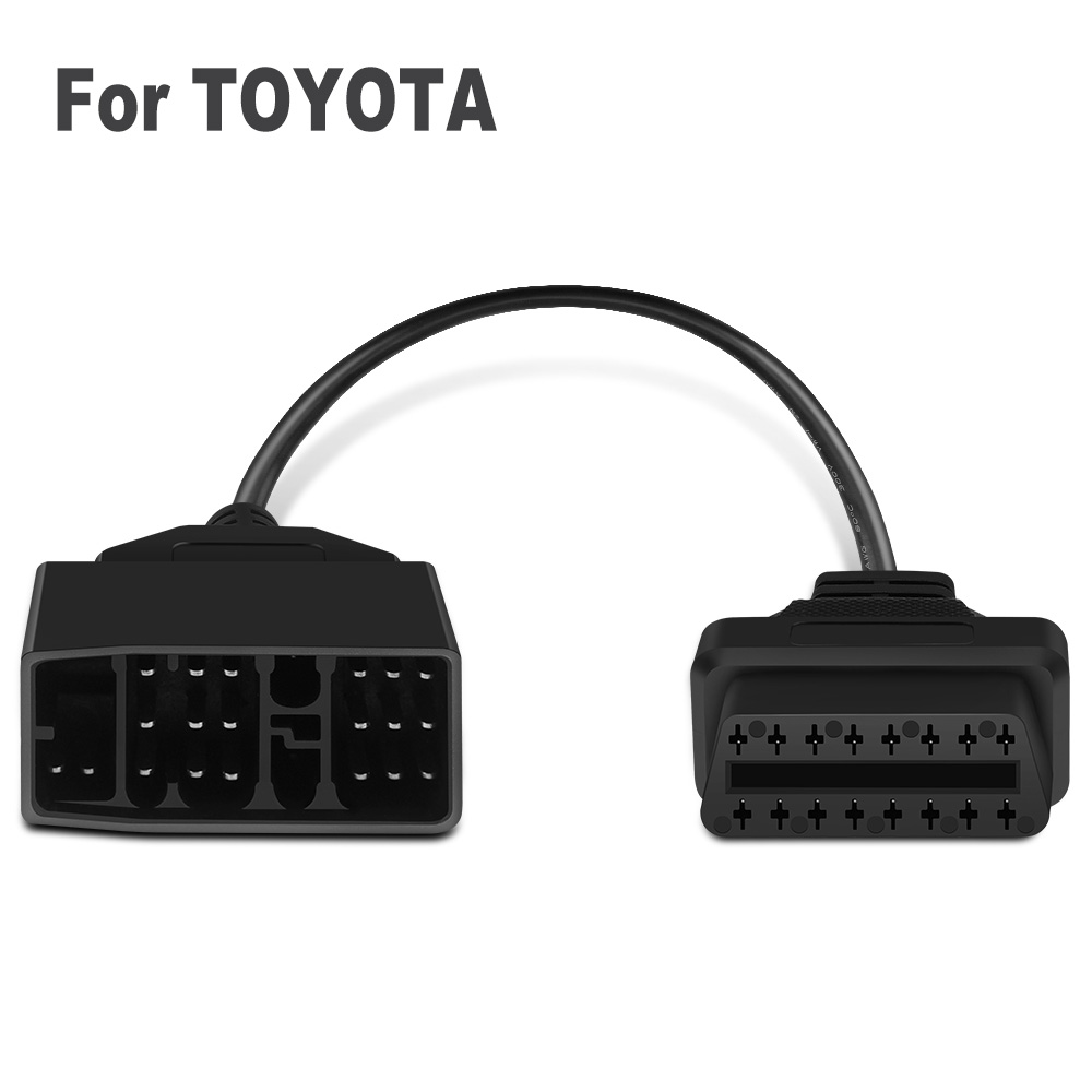 OBD2 Interface Car Diagnostic Cable For <font><b>Toyota</b></font> <font><b>22Pin</b></font> to 16Pin For Yaris Crown Previa Auris Avalon Aygo Allion Connector Tools image