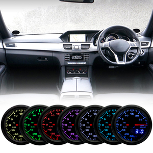 """Image 5 - 2"""" 52mm 7 Color LED Smoke Face Car Auto Bar Turbo Boost Gauge Meter with Sensor and Holder AD GA52BOOSTBAR"""