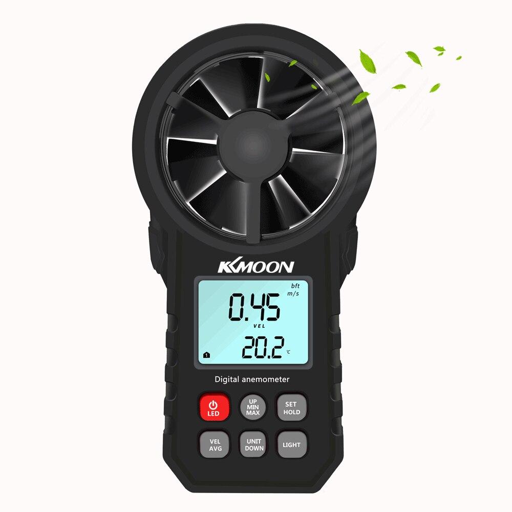 Image 3 - KKMOON Мини ЖК цифровой анемометр термометр Анемометр ветромер  скорость воздуха температура тестер HoldPeak HP 866BПриборы для  измерения скорости