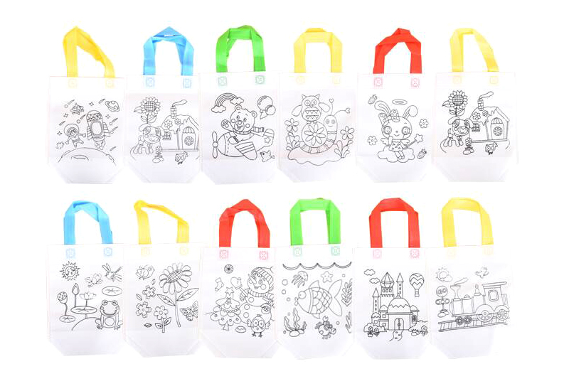 6Pcs Antistress Puzzles Educational Toy for Children DIY Eco-friendly Graffiti Bag Kindergarten Hand Painting Materials GYH 3