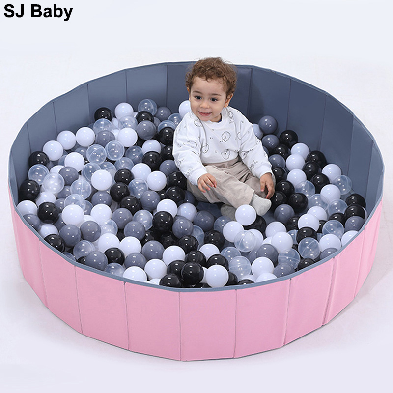 Infant Shining Ball Pits Foldable Ball Pool Ocean Ball Playpen Toy Washable Folding Fence Kids Birthday Gift Boy Toys Baby Park