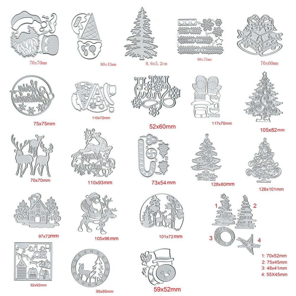 Christmas Series Metal DIY Cutting Dies Stencils Scrapbooking Photo Album Card