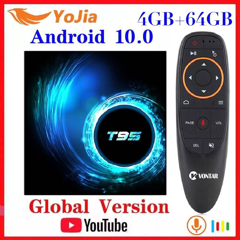 NEW Android 10 0 TV Box Android 10 MAX 4GB RAM 64GB ROM Allwinner H616 Quad Core 6K Wifi T95 Media Player Youtube Set Top Box