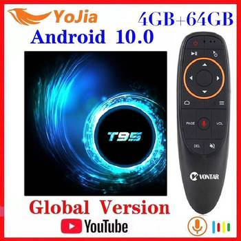 NEW Android 10.0 TV Box Android 10 MAX 4GB RAM 64GB ROM Allwinner H616 Quad Core 6K Wifi T95 Media Player Youtube Set Top Box