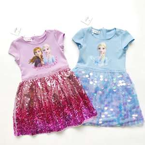 Party-Dress Children Clothes Outfit Costumes Short-Sleeve Girl Baby Kids Cotton Cute