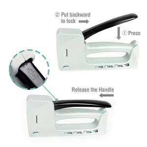 Image 3 - Светильник WORKPRO для маникюра ручной штапельный пистолет для мебели пластиковый степлер с 800 скобами 6 мм/8 мм/10 мм и штапельного удаления