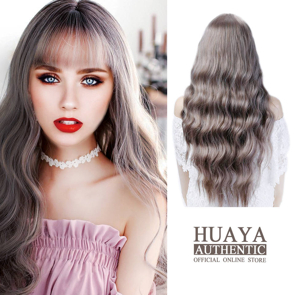HUAYA Women's  Synthetic Wig Long Wavy Curly Lolita Wigs Women Heat Resistant Fiber Daily Party Or Cosplay False Hair