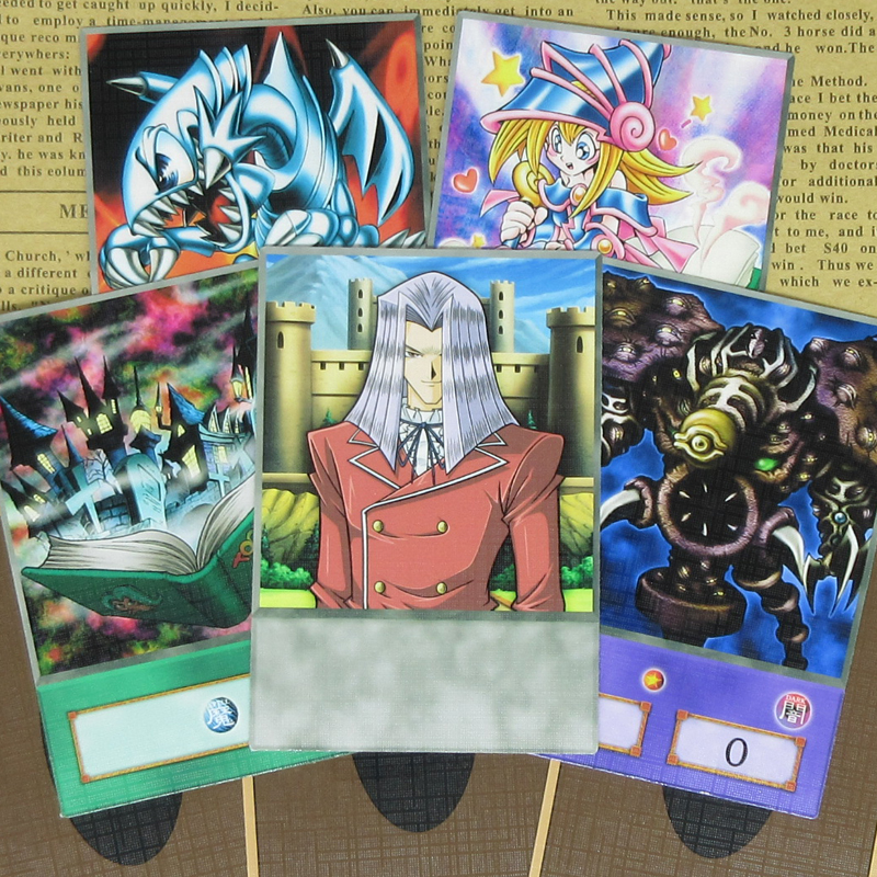 8pcs/set Yugioh Pegasus Anime Style Half-frosted Cards Toon World Cartoon Monsters Relinquished Yu-Gi-Oh! Retro Collectible Card