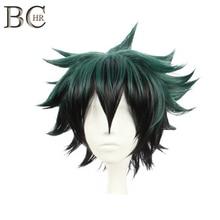 BCHR Deku Wig Anime Dark Green Cosplay Wigs Short Synthetic