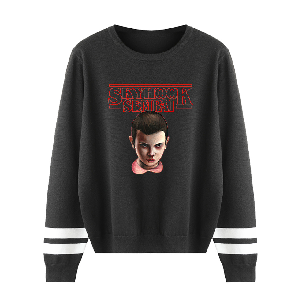 Stranger Things O-neck Sweater Men/women Fall/Winter Casual Black Sweater Warm Fashion Harajuku Round Collar Casual Sweater