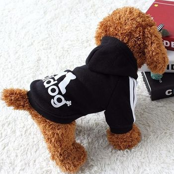 Dog clothes adidog 2020 new winter Pet clothes small and medium-sized dog Hoodies puppy clothing Sweatshirt for dogs 3