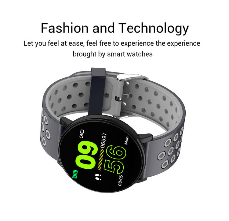 Smart Watch Men Blood Pressure Alarm Clock Round Waterproof Smartwatch Women Sport Health Heart Rate Wristwatch for Android IOS