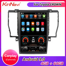 KiriNavi Vertical Screen Tesla Style 12.8'' Android 9.0 Car Radio Automotivo For Toyota Crown Car Multimedia Player 4G 2006-2009(China)