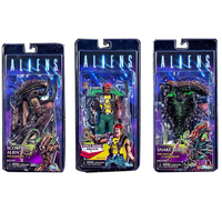 2019 NECA 13th Lineup Aliens VS Predator Scorpion Snake Alien Sgt Apone Kenner Action Figure  collectable Toy