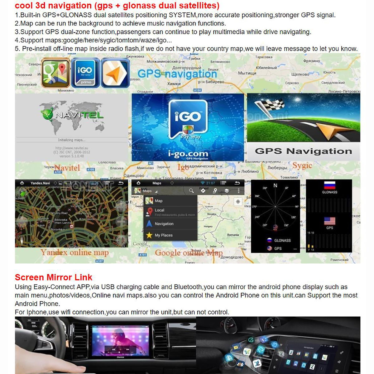"""Perfect 10.25"""" Ips 8core 4gb+64gb Android 9.0 Car"""