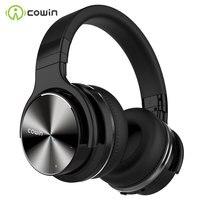 Cowin-auriculares inalámbricos E7 PRO con Bluetooth, dispositivo con cancelación activa de ruido, por encima de la oreja, con micrófono y graves profundos
