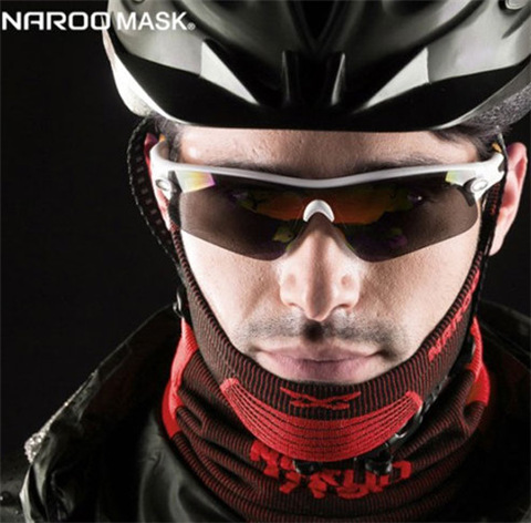 Naroo Cycling Mask Men's Sun-resistant Face Mask Bicycle Care Face Headscarf Dustproof Windproof Cold Bust Mask Women's