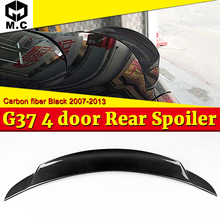 For infiniti G37 4-Door Rear Spoiler Tail High-quality Carbon Fiber Trunk Wing car styling Accessories 2007-14