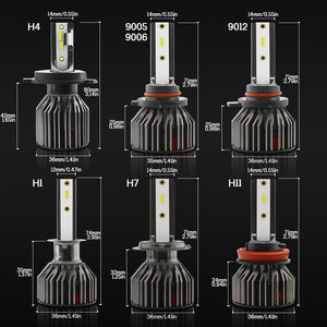Image 2 - TXVSO8 6000K H4 CSP Turbo Licht Mini H7 Auto Scheinwerfer Lampe LED 9006/HB4 9005/ HB3 H1 H8 h9 H11 Automotive LED Lampen 10000LM