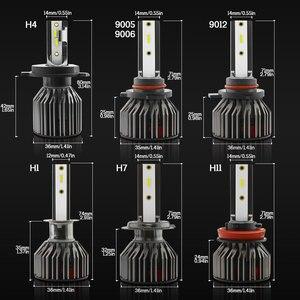 Image 2 - TXVSO8 6000K H4 CSP Turbo Light  Mini H7 Car Headlights Bulb LED 9006/HB4 9005/ HB3 H1 H8 H9 H11 Automotive LED Lamps 10000LM