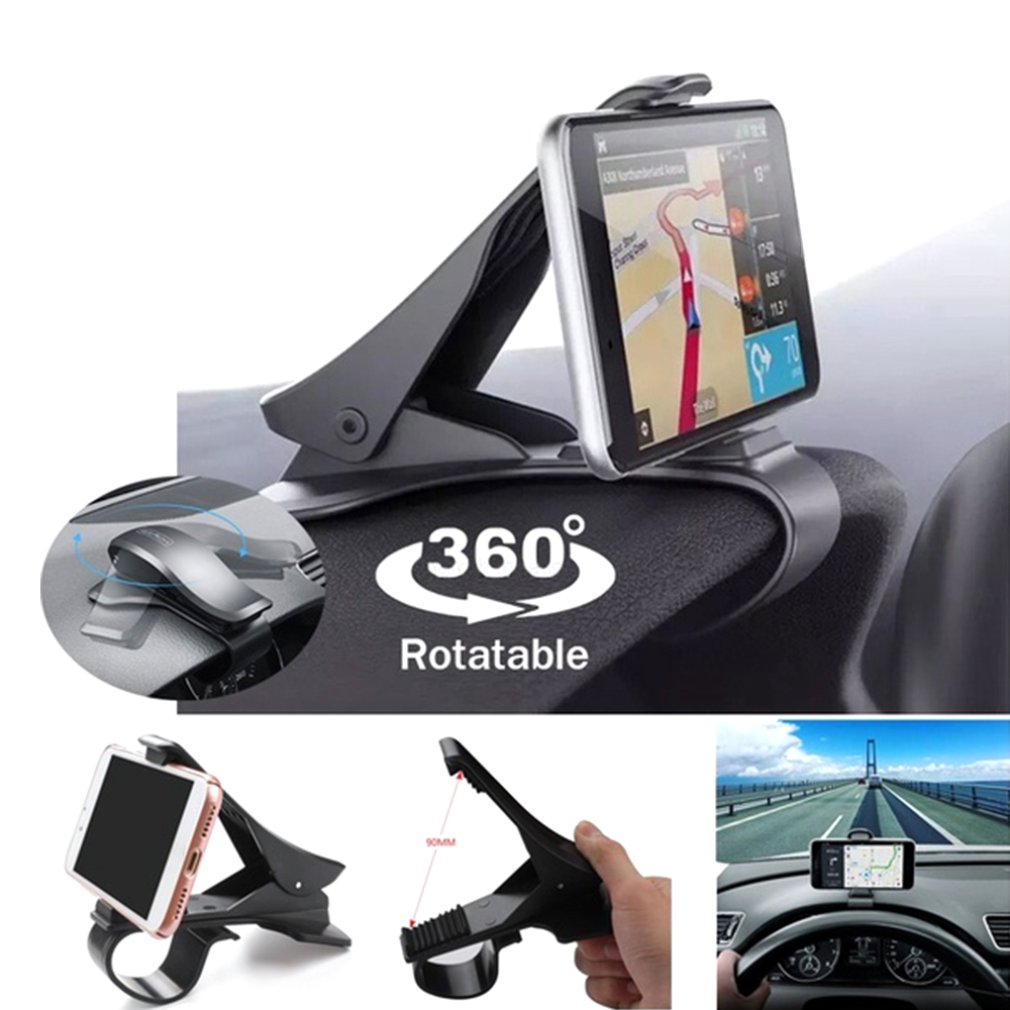 Car Dashboard Phone Holder Stand Universal Car Cellphone Support 360 Rotation For Iphone X XR XS Samsung Smartphone Mount