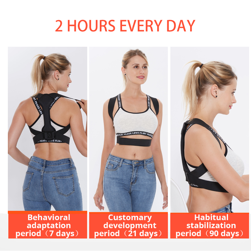 Back Posture Corrector Women Men Prevent Slouching Relieve Pain Posture Straps, Clavicle Support Brace 3