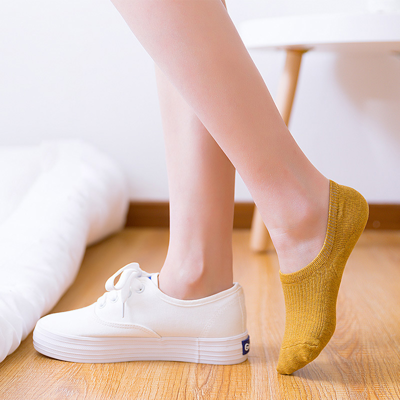 Clearance SaleShort Socks Ankle Non-Slip Invisible No-Show Silicone Summer Women's Cute Thin Fashion