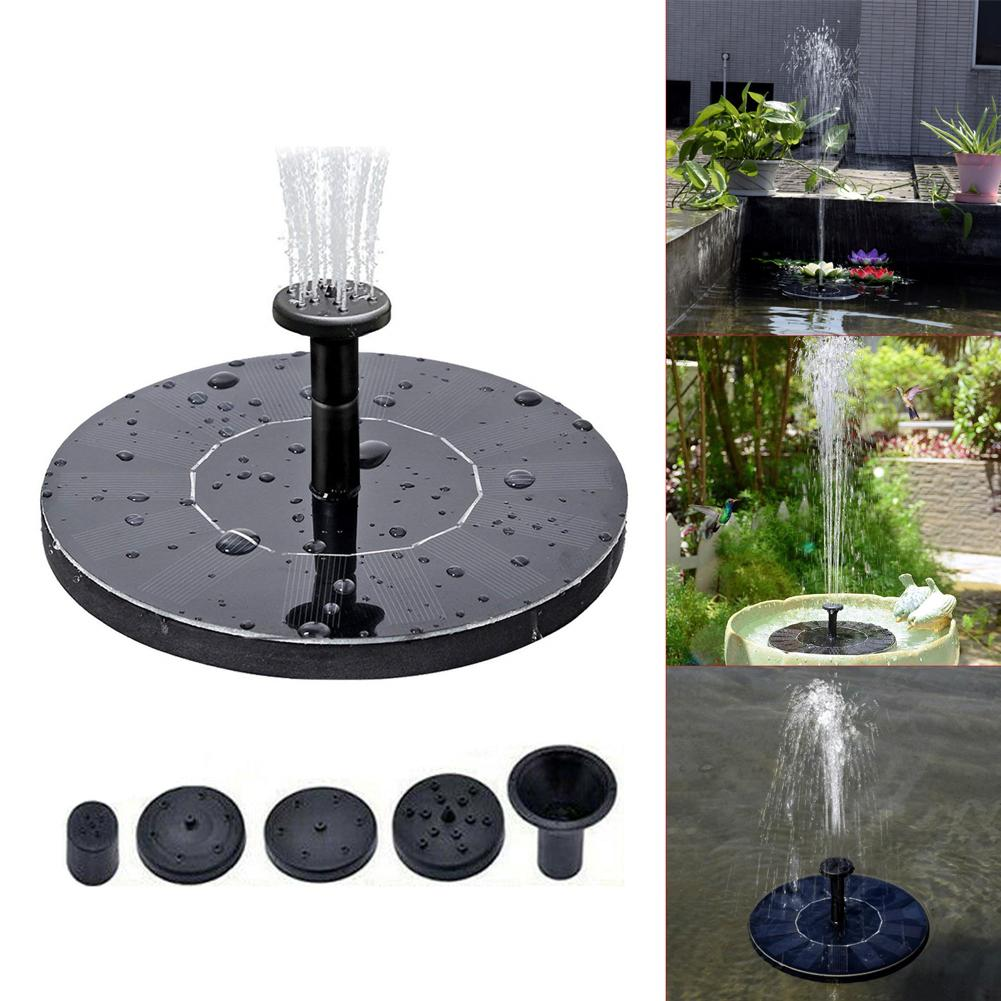 Outdoor Solar Fountain Round Water Source Home Water Fountains Decoration Garden Pond Swimming Pool Bird Bath Waterfall