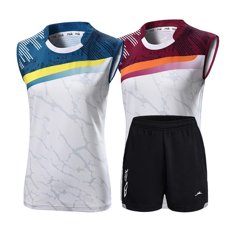 New Badminton Suit Men's And Women's Tennis Sleeveless Sports Shirt Quick Drying Sleeveless Top Table Tennis Suit Quick Drying