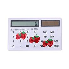 8 Digits Solar Power Calculator Display With Touch Screen Student Portable Calculation Exam Supplies Arithmetic Calculator Gift