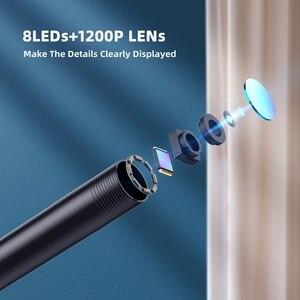 Image 2 - F150 WIFI endoscopio telecamera HD1200P impermeabile Hard soft Wire Wireless 8mm 8LED Mini Borescope Camera per Iphone telefoni Android