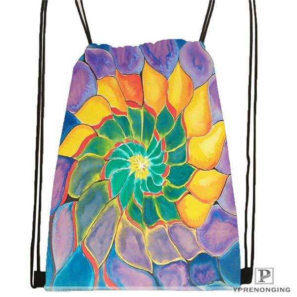 Custom Magnificent_mandala_ Drawstring Backpack Bag Cute Daypack Kids Satchel (Black Back) 31x40cm#180612-02-26