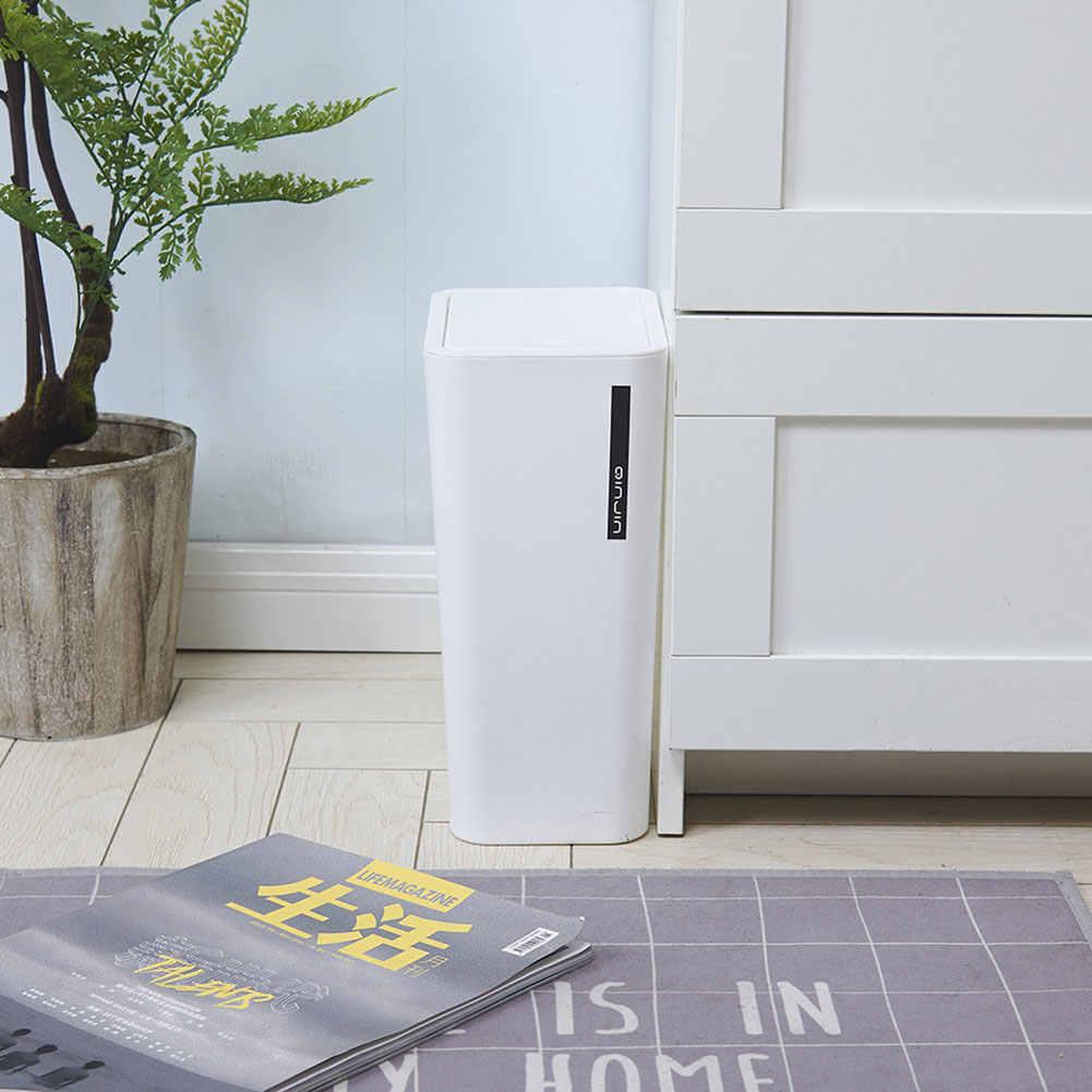 9L Caixote do Lixo de Plástico Criativo Prático Suporte Cozinha Sala de Escritório de Lixo Poeira Bin Balde De Armazenamento Com Tampa 2019 Novo j30