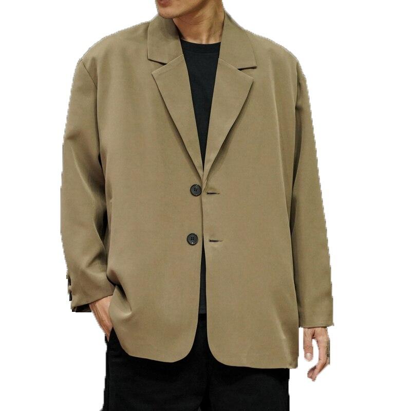 Men's Solid Casual Blazer 2020 Fashion Men Baggy Blazers Coats Male Long Sleeve Outerwear Business Streetwear Suits Jackets Men
