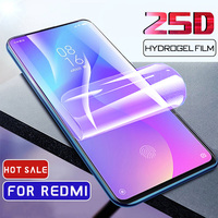 25d full cover hydrogel film for xiaomi redmi note 8 7 pro screen protector for xiaomi redmi 8 7 7a note 6 6a k20 pro not glass