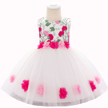 Girls Dress Clothing Vestido Party Wedding Kids 0-2-Years Summer Floral L1878XZ Costume