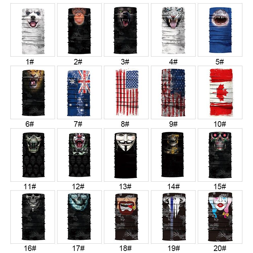 Legal robô esqueleto máscara de halloween lenço coringa bandana balaclavas faceshield fora para ciclismo pesca esqui motocicleta 20 tipos