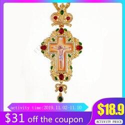 Nova prata cruz pectoral russo grécia crucifixo ícone religioso bizantino arte e tradição ortodoxa santa cruz sacerdotes