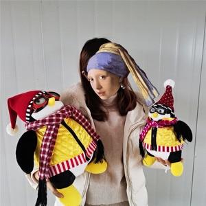Image 5 - 55cm Ernsthafte Freunde Joey der Freund Hugsy Plüsch Spielzeug PINGUIN Rachel Gefüllte Puppe Spielzeug für Kinder Kinder Geburtstag Weihnachten geschenk