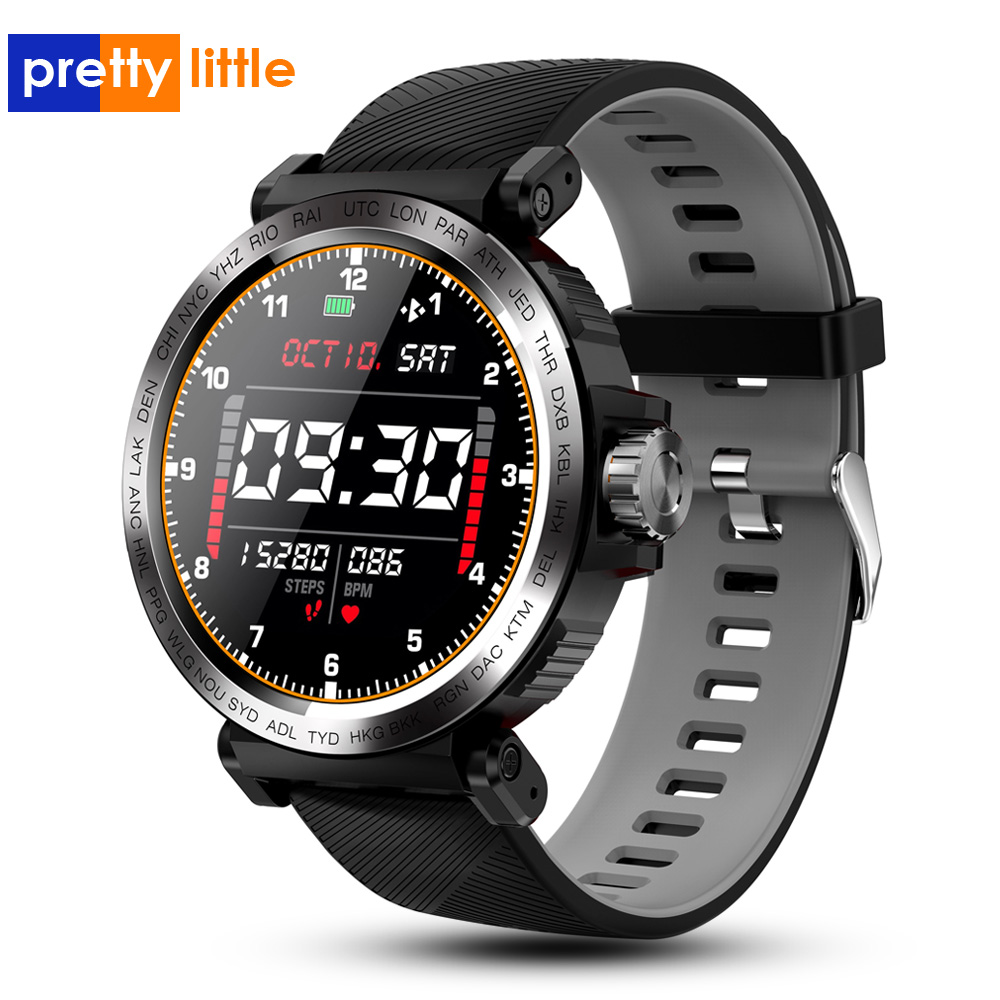 S18 Full Screen Touch Smart Uhr <font><b>IP68</b></font> wasserdicht Männer Sport Uhr Herz Rate Monitor Smartwatch für IOS Android telefon image