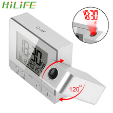 Led Clock Projection Temperature Digital Date Indoor HILIFE Humidity-Desk-Table Snooze