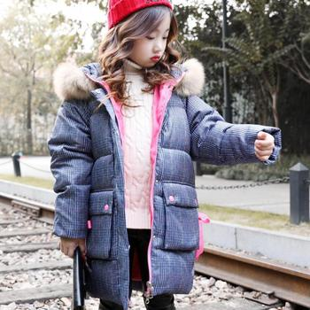 2020 Children Down & Parkas Winter Kid Outerwear Warm Hooded Jacket For Girls Warm Coats Toddler Girls Down Coat Snowsuits 10 12