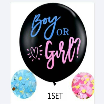 black 36-inch gender secret balloon boy or girl latex balloon baby gender disclosure balloon baby show decoration image