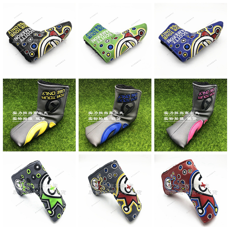Hot Potato Spieth Cherry Crawfish Clown Joker Cover PUTTER HEADCOVER Cameron Johnny Jackpot Scotty Headcovers Letter Circle T