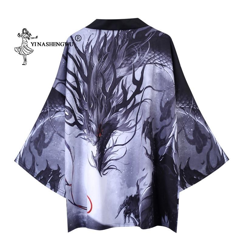 Yukata Men Women Kimonos Cardigan Men Japanese Kimono Traditional Unisex Leisure Shirts Print Femme Coat Kimono Cosplay Costumes