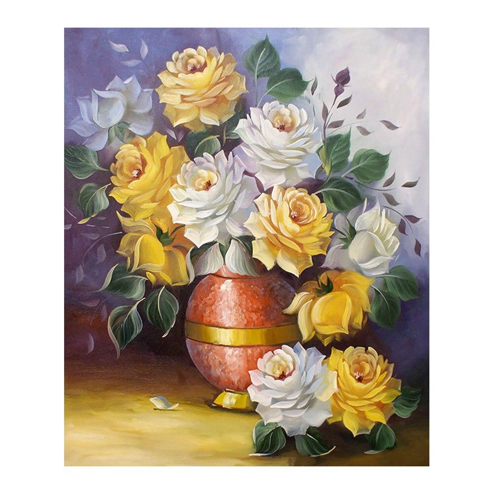 flower vase Moge Diamond Painting Full Round New DIY sticking drill cross stitch 5D embroidery still life arrangement