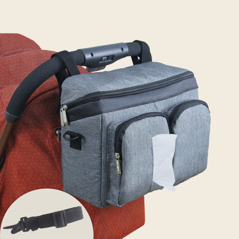 Baby Stroller Side Bag Pram Hanging Bag Toy Diaper Nappy Storage Organizer T
