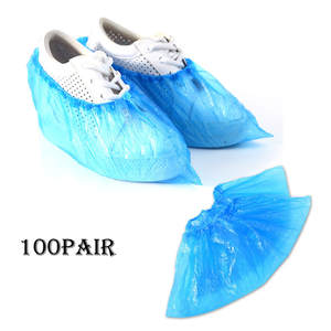 100 Pack Disposable Shoe Covers Hygienic Boot Cover for Workplace, Indoor Carpet shoe covers Protection products LW