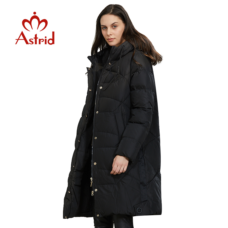 Astrid 2019 Winter new arrival down jacket women loose clothing outerwear quality with a hood fashion style winter coat AR-6599