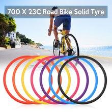 Pneu de vélo de route sans chambre à air 700x23c, solide, accessoires de cyclisme